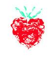 grunge splash heart vector image vector image