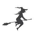 halloween witch glyph icon halloween and scary vector image