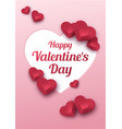 happy valentines day greeting card paper art vector image