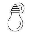 intelligent bulb icon outline style vector image