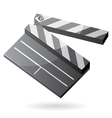 Isometric icon of clapper board vector image vector image