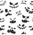 jack face pattern seamless halloween texture vector image