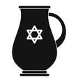 jewish jug icon simple style vector image
