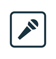 microphone icon Rounded squares button vector image vector image