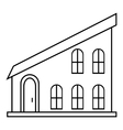 Modern house icon outline style vector image vector image