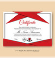 modern verified certificate background template vector image