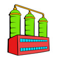 oil refinery or chemical plant icon icon cartoon vector image vector image