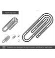 Paper clip line icon vector image