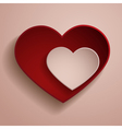 Red and white hearts vector image vector image