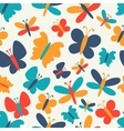 Retro seamless pattern of colorful vector image
