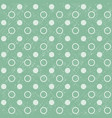 retro seamless polka dot green background vector image vector image
