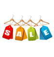Sale tags Concept of discount shopping vector image vector image