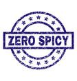 scratched textured zero spicy stamp seal vector image vector image