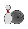 scribble pin and ball cartoon vector image vector image