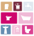 Seamless background with bathroom icons vector image vector image
