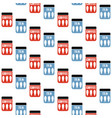 seamless pattern with tea and coffee pots mid vector image