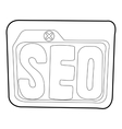 Seo icon outline style vector image