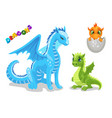 set cute dragon character funny dragon vector image vector image