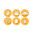 set linear coffee icons drinks icons vector image vector image