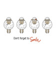 smile concept with sheep vector image vector image