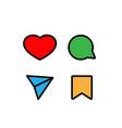 social media icons color vector image