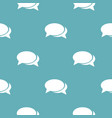 speech bubbles pattern seamless blue vector image vector image