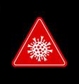 stop coronavirus sign covid-19 quarantine vector image