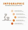 studio design coffee lamp flash infographics vector image