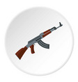 submachine gun icon circle vector image vector image