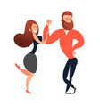 the girl is flirting with a guy vector image vector image