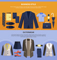 two clothes composition set vector image vector image