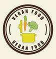 vegan food vector image vector image