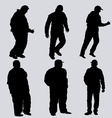 silhouettes of obese men vector image