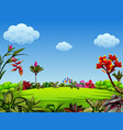 a beautiful garden view with a lot of leaves vector image