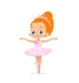 african american ballerina child dance pink tutu vector image vector image