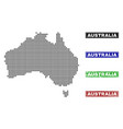 australia map in dot style with grunge caption vector image