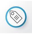 badge icon symbol premium quality isolated ticket vector image vector image
