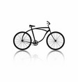 bicycle silhouette isolated on white background vector image vector image