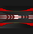 black and red stripes abstract background with vector image vector image