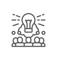 brainstorm teamleader idea line icon vector image