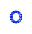 brick logo letter o vector image