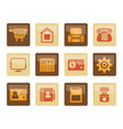 business office and website icons vector image vector image