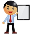 Businessman and tablet pc vector image