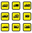 camper car yellow icon set vector image vector image