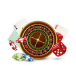 casino concept casino roulette chips vector image vector image