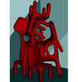 chairs pile vector image vector image