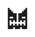 cheerful and kind pixel monster monochrome vector image vector image