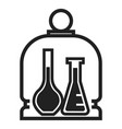chemistry glass flask icon simple style vector image