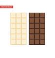 chocolate bar and white chocolate bar vector image