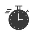 chronometer or speed icon with stop watch pixel vector image